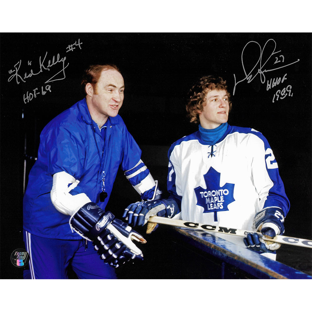 Red Kelly & Darryl Sittler Autographed Toronto Maple Leafs 8X10 Photo