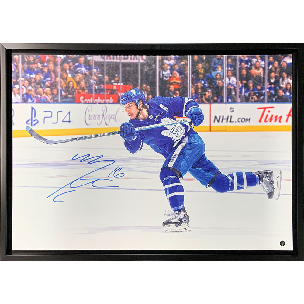 Mitch Marner Autographed Toronto Maple Leafs Framed 20X30 Canvas