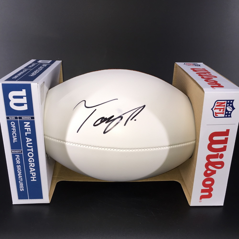 NFL - Cowboys Tony Pollard Signed Panel Ball (Slight Bleed on Signature)