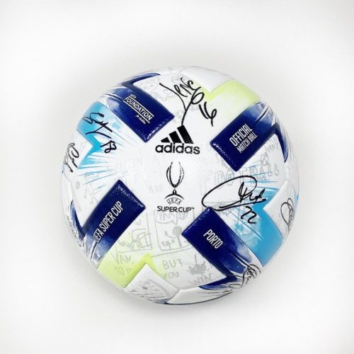 Photo of A 19/20 UEFA Super Cup ball signed by the Sevilla FC Team