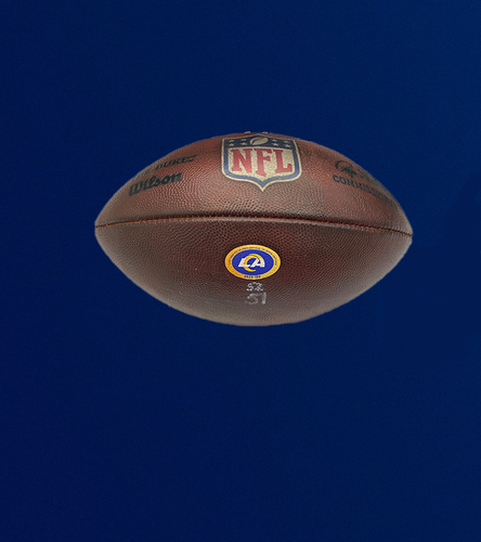 Photo of Rams Game Used Football - (1/3/2021 VS. Arizona Cardinals)