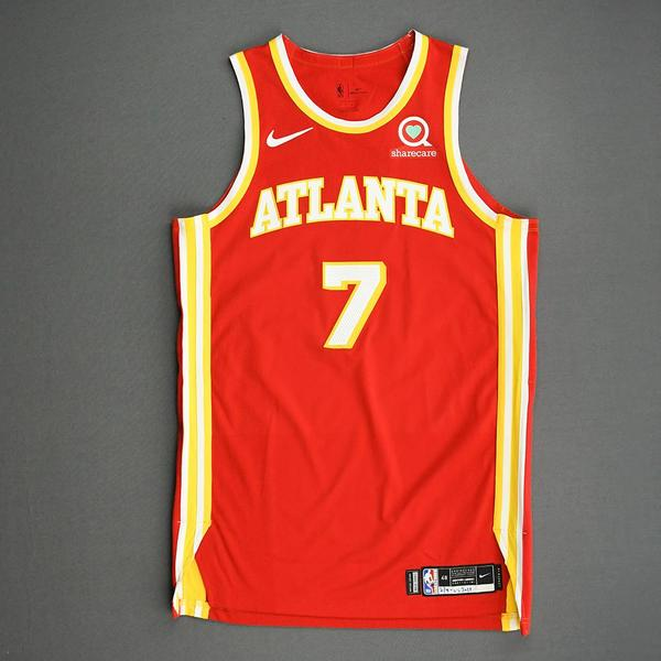 Image of Rajon Rondo - Atlanta Hawks - Game-Worn Icon Edition Jersey - 2020-21 NBA Season