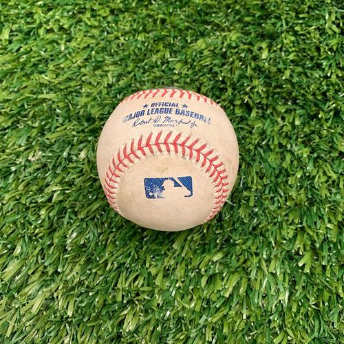 Photo of Minnesota Twins: 2019 Game-used Baseball - P: Jake Newberry, H: Nelson Cruz 39th Homerun of 2019 season Bottom 7 - 9/19/2019 vs Kansas City Royals **Career Homerun #399**