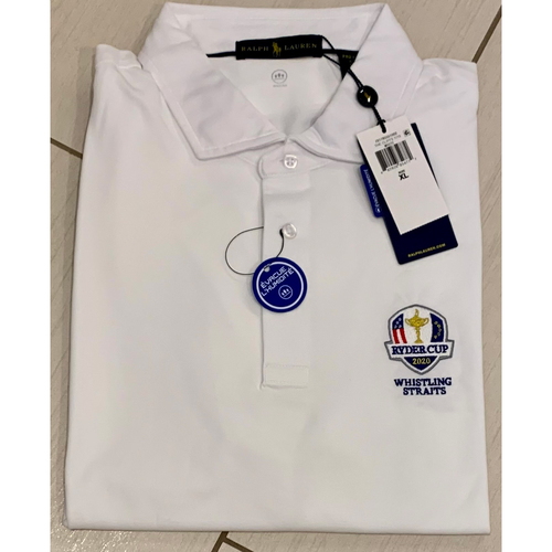 Photo of UMPS CARE AUCTION: 2020 Ryder Cup Whistling Straits Ralph Lauren White Golf Shirt, Size XL