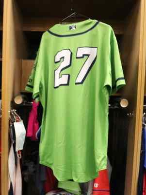 Stockton Ports Junior Perez Asparagus jersey, #27, Size 48