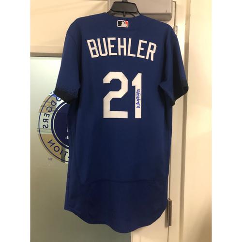 Photo of Walker Buehler Authentic Autographed City Connect Jersey - Size 42