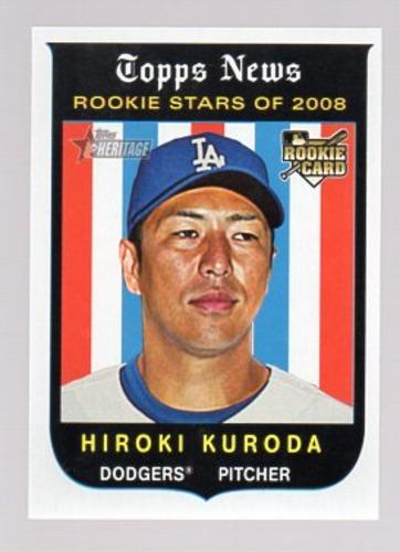 Photo of 2008 Topps Heritage #524 Hiroki Kuroda RC