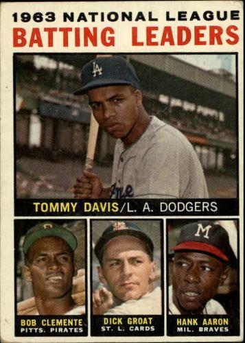 Photo of 1964 Topps #7 NL Batting Leaders/Tommy Davis/Roberto Clemente/Dick Groat/Hank Aaron