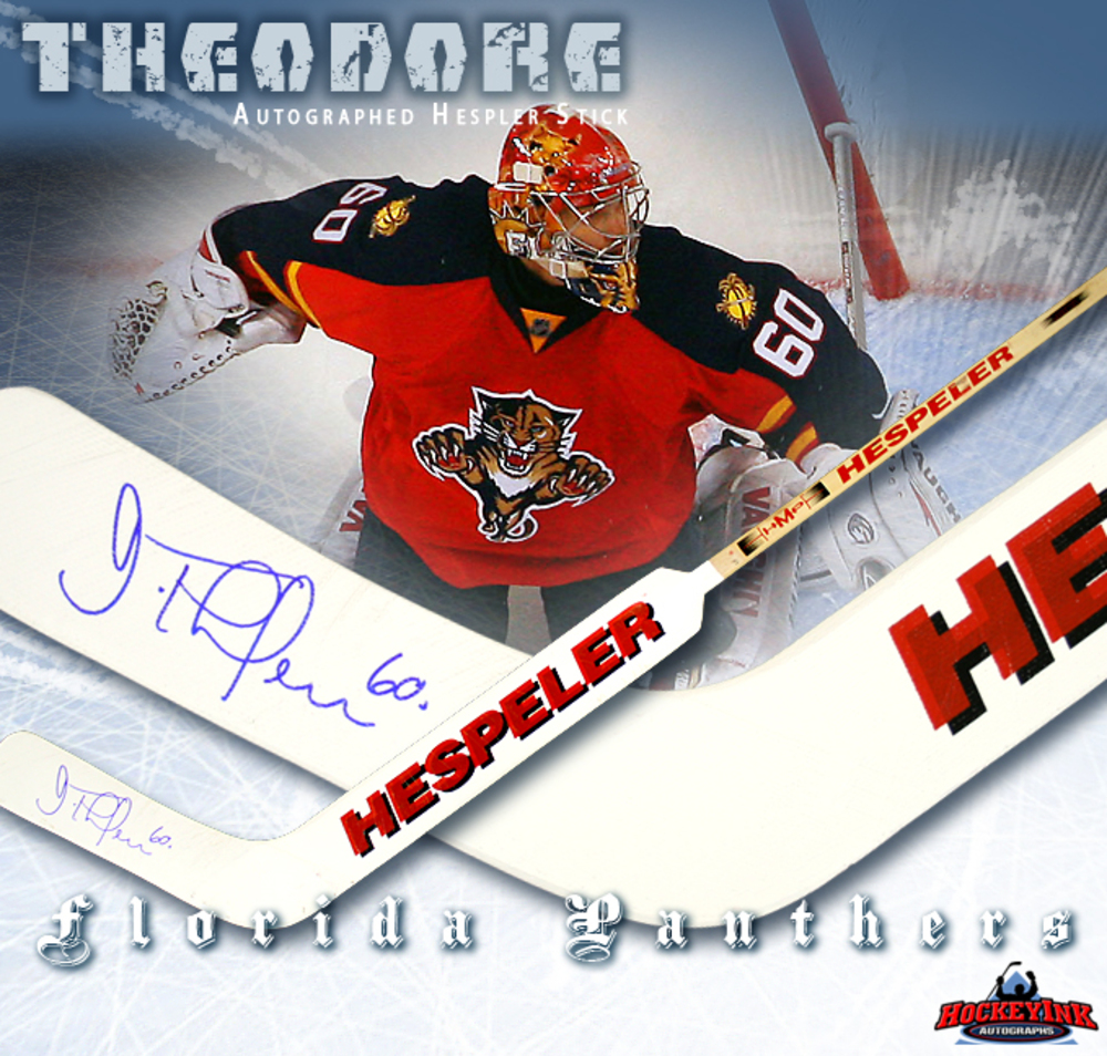 JOSE THEODORE Signed Hespler Goal Stick - Florida Panthers