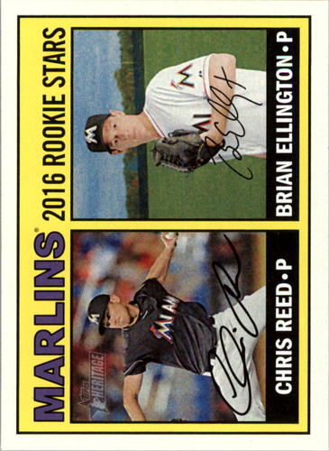 Photo of 2016 Topps Heritage #169 Brian Ellington RC/Chris Reed RC