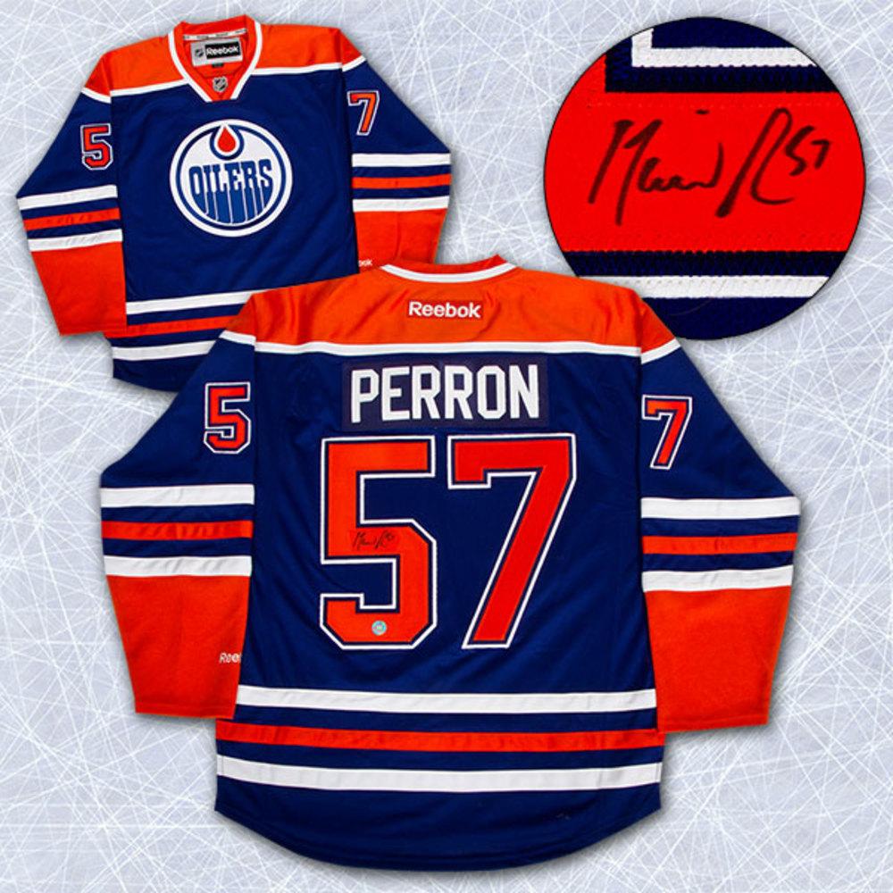 David Perron Edmonton Oilers Autographed Reebok Premier Jersey