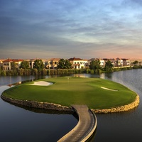 Photo of Play in the Hilton Golf Championship Grand Final in Dubai - click to expand.