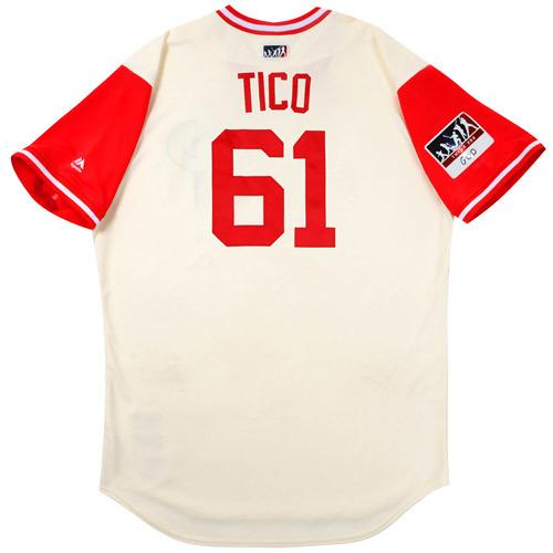 "Photo of Edubray ""Tico"" Ramos Philadelphia Phillies Game-Used Players Weekend Jersey"