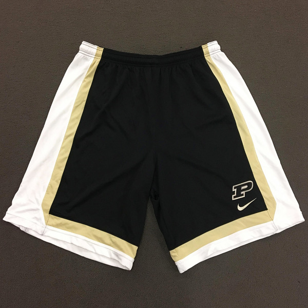 Photo of Purdue Men's Basketball Play Hard Nike Shorts 3XL Black Shorts with White Side Stripe