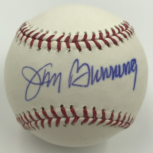 Photo of Jim Bunning Autographed Baseball