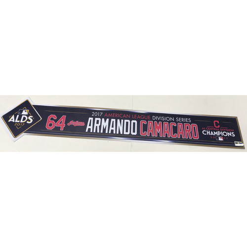 Photo of Armando Camacaro Team-Issued 2017 ALDS Locker Name Plate