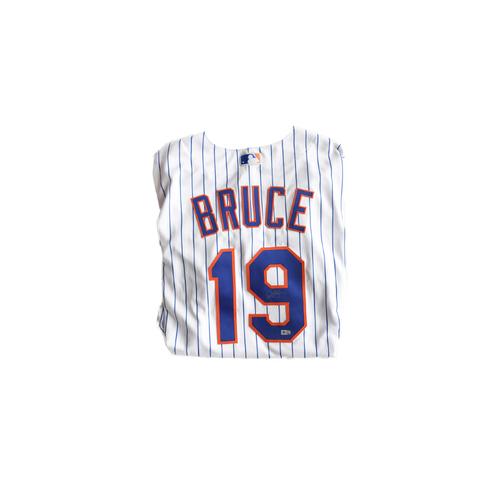 Photo of Amazin' Auction: Jay Bruce White Pinstripe Signed Jersey