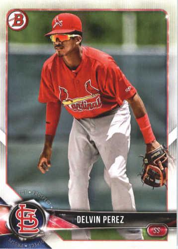 Photo of 2018 Bowman Prospects #BP138 Delvin Perez