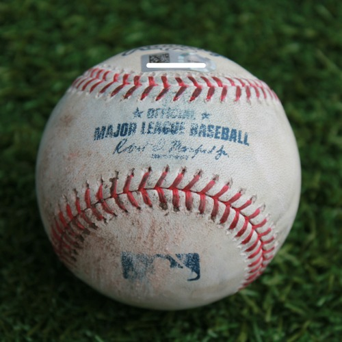 Photo of Game-Used Baseball: Yonder Alonso 816th Career Hit and 392nd Career RBI (CWS @ KC - 3/31/19)