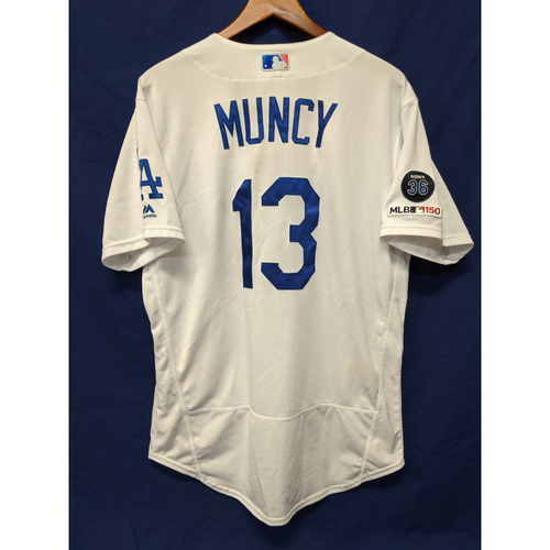 Photo of Los Angeles Dodgers Max Muncy Game-Used Home Jersey - 8/4/19 - 27th Home Run of 2019