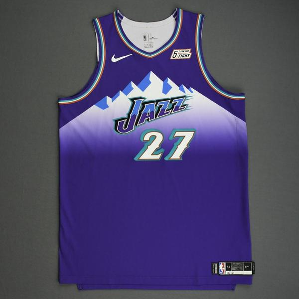 Image of Rudy Gobert - Utah Jazz - Game-Worn Classic Edition 1996-04 Road Jersey - 2019-20 Season