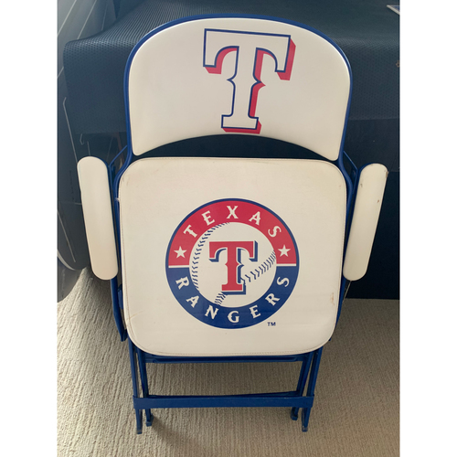Photo of Folding Chair From Texas Rangers Home Clubhouse at Globe Life Park - Primary Logo