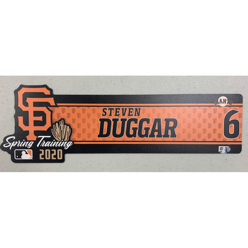 Photo of 2020 Spring Training Locker Tag - #6 Steven Duggar