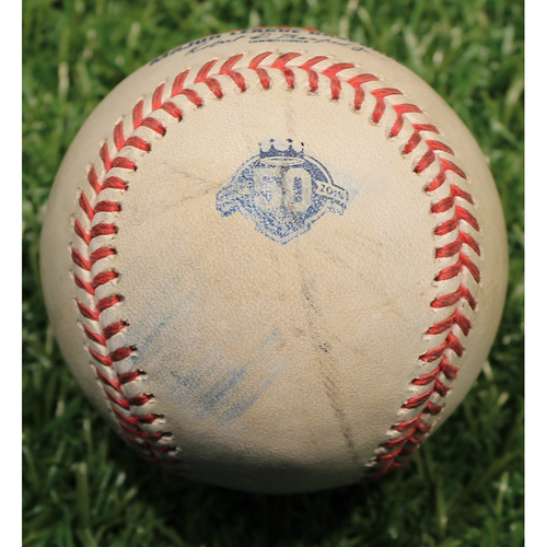 Photo of Game-Used Baseball: Ryan Cordell Foul (CWS @ KC 9/12/18)
