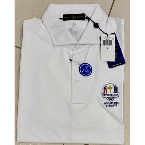 Photo of UMPS CARE AUCTION: 2020 Ryder Cup Whistling Straits Ralph Lauren White Golf Shirt, Size L