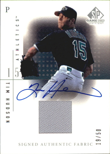 Photo of 2001 SP Game Used Edition Authentic Fabric Autographs #STH Tim Hudson
