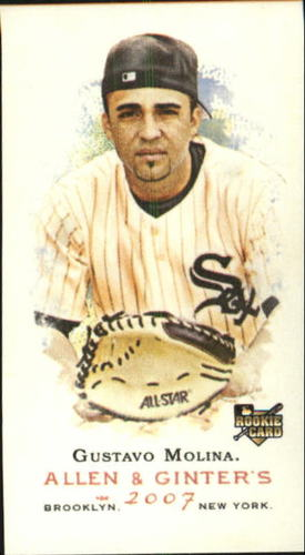 Photo of 2007 Topps Allen and Ginter Mini #334 Gustavo Molina SP