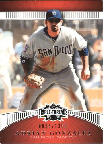Photo of 2010 Topps Triple Threads #31 Adrian Gonzalez