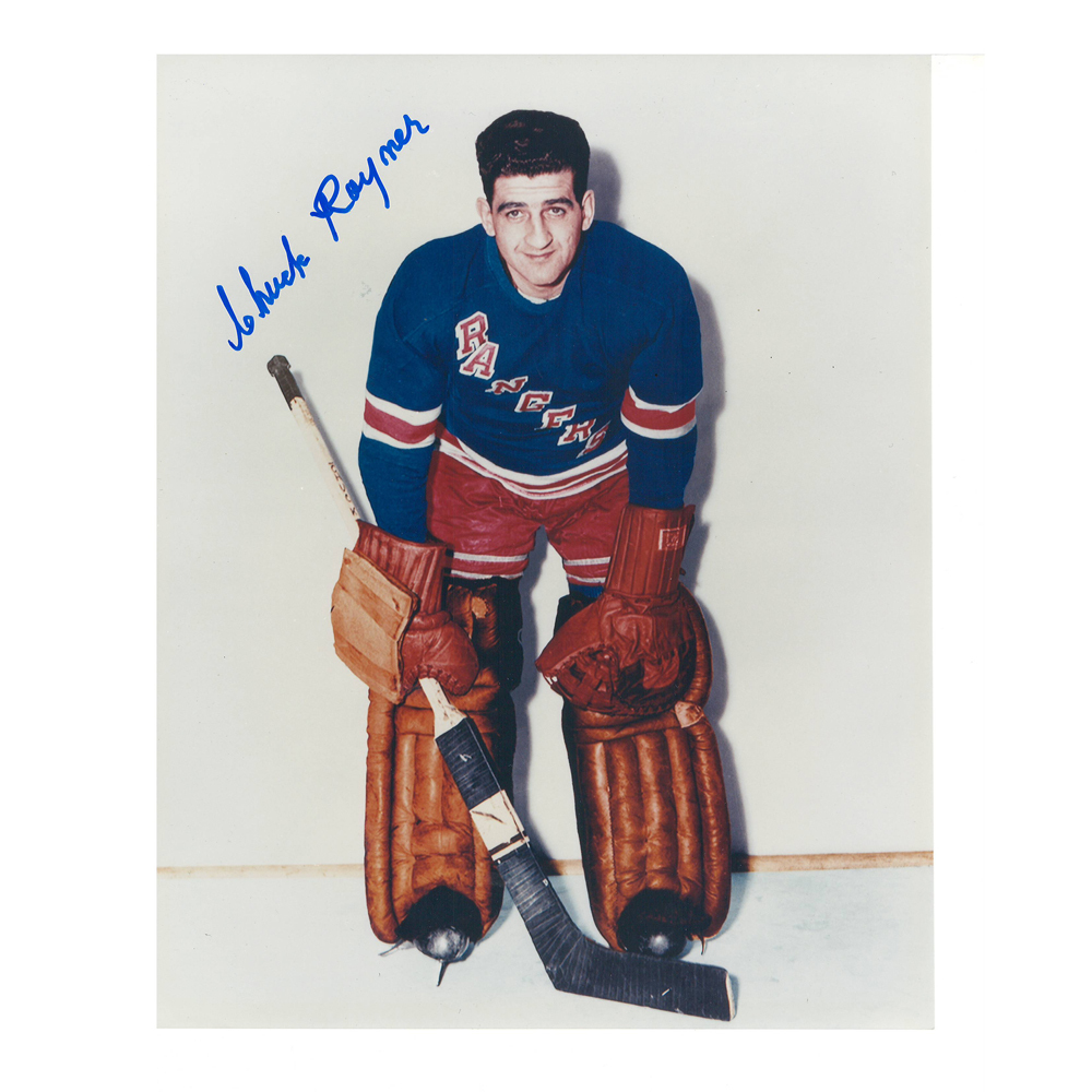CHUCK RAYNER Signed New York Rangers 8 X 10 Photo - 70061