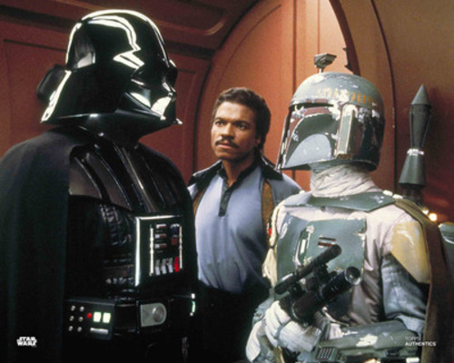 Darth Vader, Lando Calrissian and Boba Fett