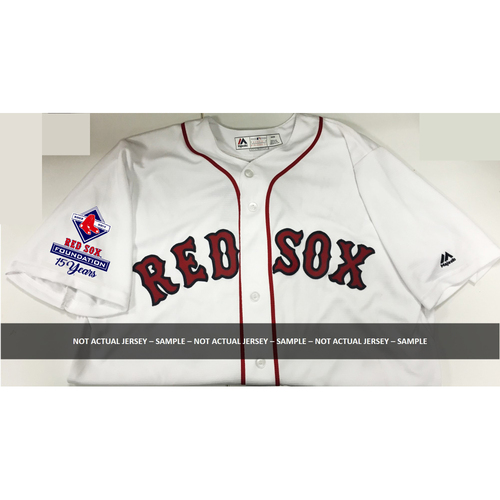 Red Sox Foundation Charity Game Night Auction - Jackie Bradley Jr. Game-Used & Autographed Jersey