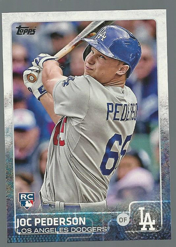 Photo of 2015 Topps #192A Joc Pederson Rookie Card -- Dodgers post-season