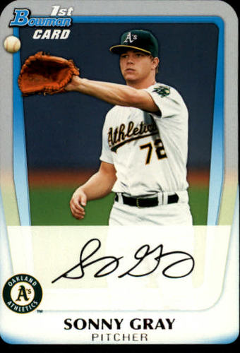 Photo of 2011 Bowman Chrome Draft Prospects #BDPP35 Sonny Gray Pre-rookie Card