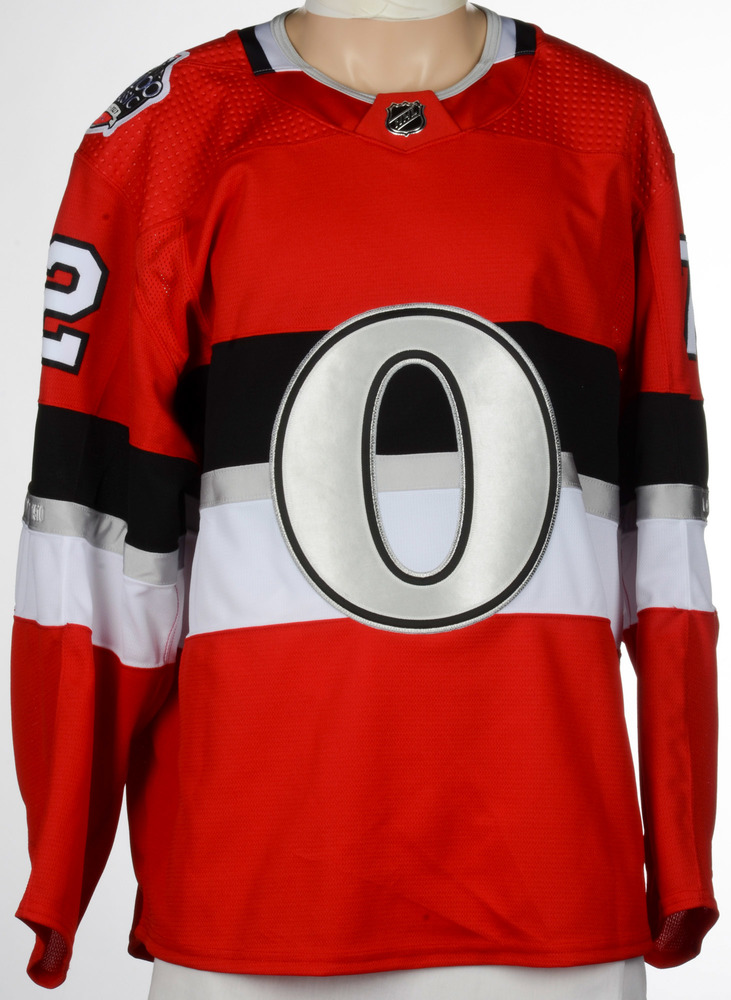 0b08a196e28 Thomas Chabot Ottawa Senators Game-Worn 2017 NHL100 Classic Jersey ...