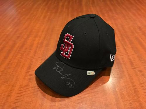 Photo of Dave Jauss Autographed and Game-Used Marjory Stoneman Douglas Eagles Cap