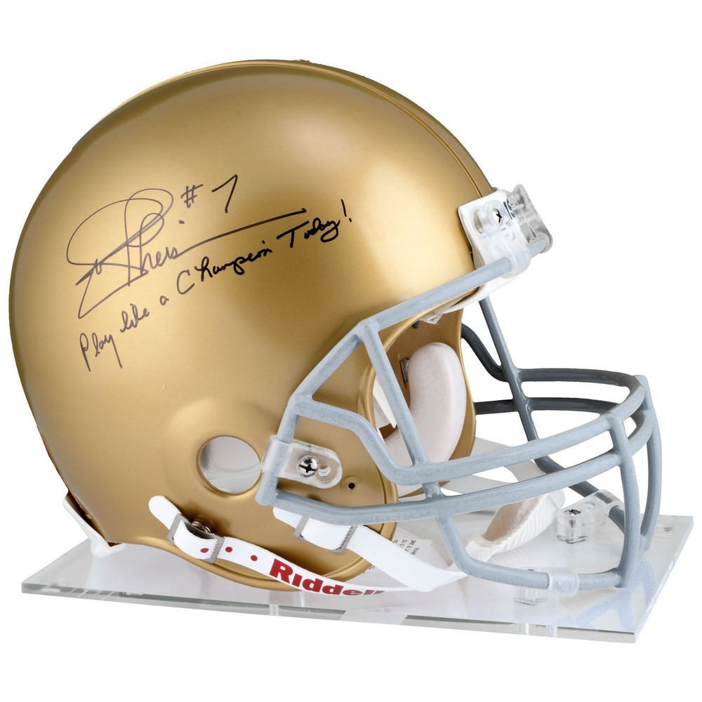 Joe Theismann Notre Dame Fighting Irish Autographed Riddell Pro-Line Helmet with