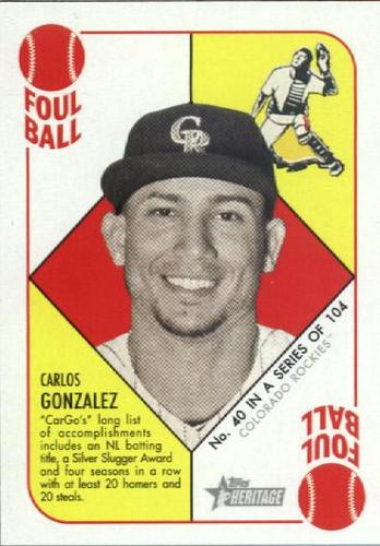 Photo of 2015 Topps Heritage '51 Collection #40 Carlos Gonzalez