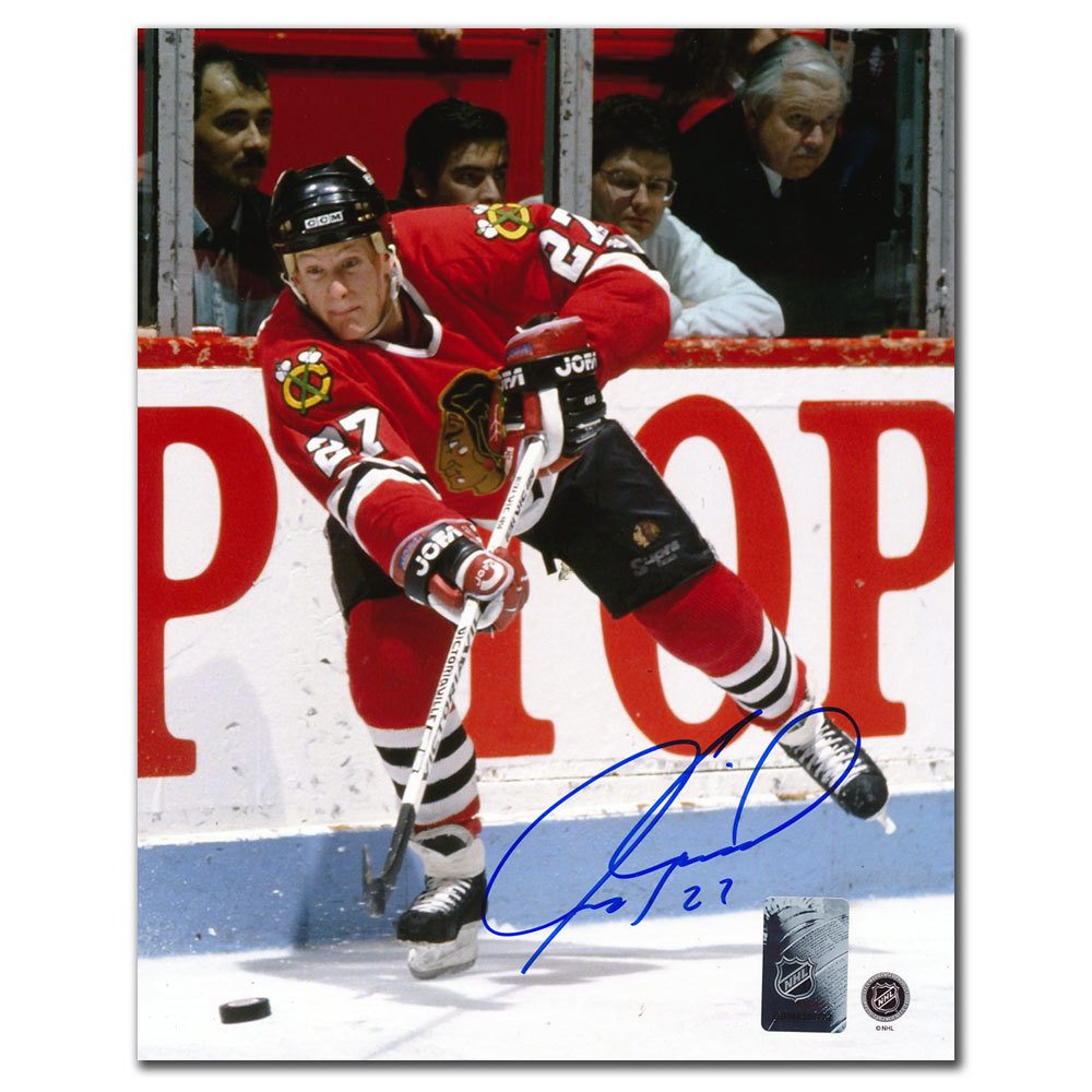 Jeremy Roenick Chicago Blackhawks PASS Autographed 8x10