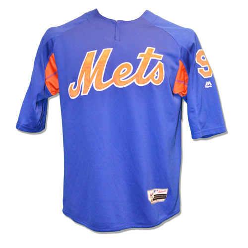 Photo of Brandon Nimmo #9 - Team Issued BP Pullover - 2018 Season