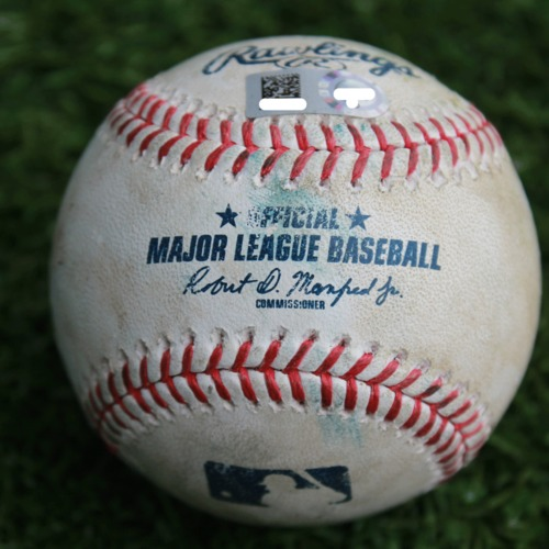 Photo of Game-Used Baseball: James McCann 59th Career Double (CWS @ KC - 3/31/19)