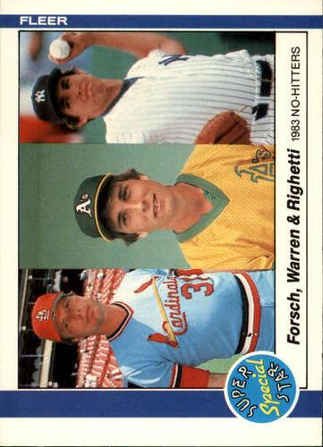 Photo of 1984 Fleer #639 Dave Righetti/Mike Warren/Bob Forsch