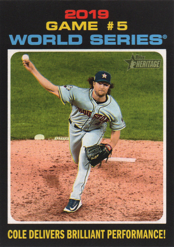 Photo of 2020 Topps Heritage #331 Gerrit Cole WS HL