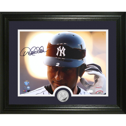 "Photo of Derek Jeter Autographed ""2012 ASG"" Silver Coin Photo Mint"