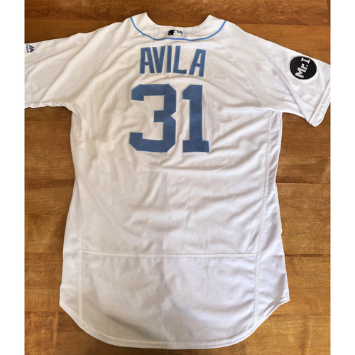 Photo of Alex Avila 2017 Father's Day Detroit Tigers #31 Home Game Used Jersey with Mr. I Patch (MLB AUTHENTICATED)