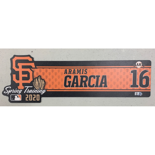 Photo of 2020 Spring Training Locker Tag - #16 Aramis Garcia