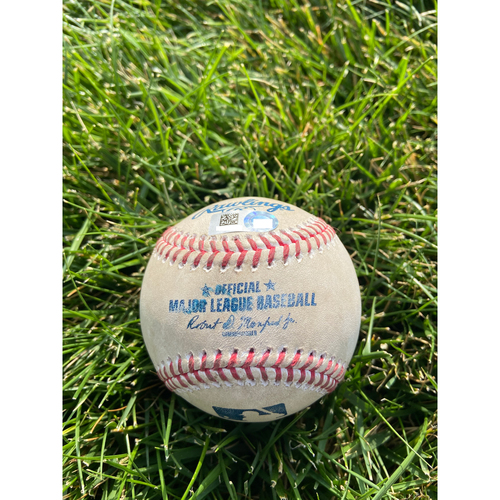 Cardinals Authentics: Game Used Baseball Pitched by Nabil Crismatt to Aristides Aquino *Home Run 2 RBI*